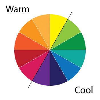 رنگ های گرم و سرد روانشناسی