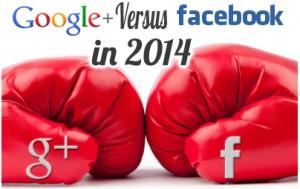 گوگل پلاس در برابر فیسبوک در سال ۲۰۱۴