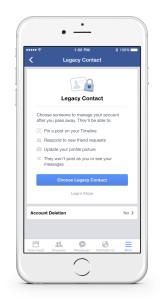 افزودن یک وارث در فیسبوک