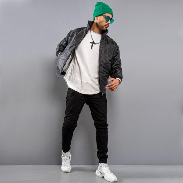 كاپشن مردانه مدل arshan رنگ مشكي3