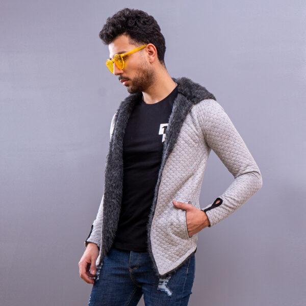 هودي مردانه مدل arad رنگ طوسي4