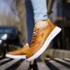 کفش فندی عسلی مردانه مدل Vidash2