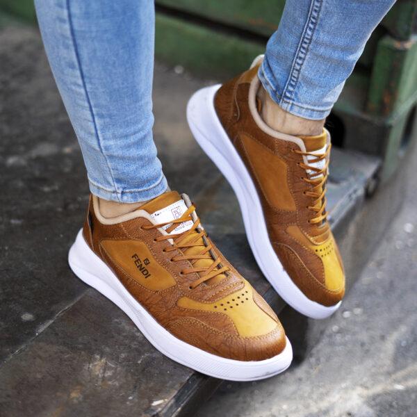 کفش فندی عسلی مردانه مدل Vidash5