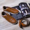 کفش مردانه ecco عسلی مدل Viksa2
