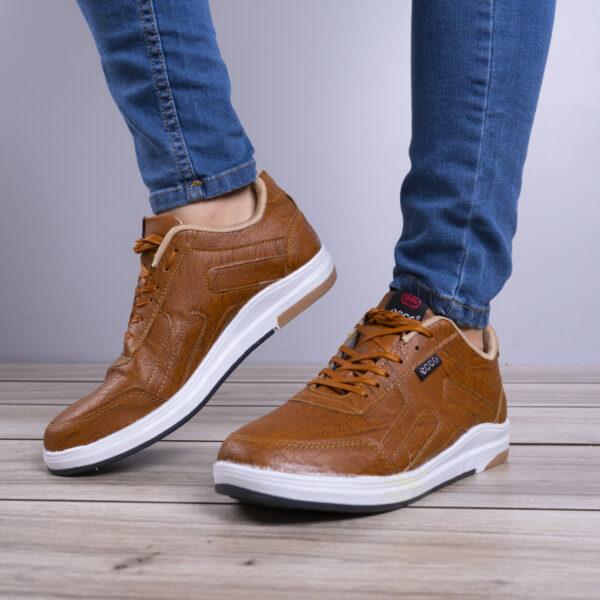 کفش مردانه ecco عسلی مدل Viksa4
