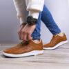 کفش مردانه ecco عسلی مدل Viksa6