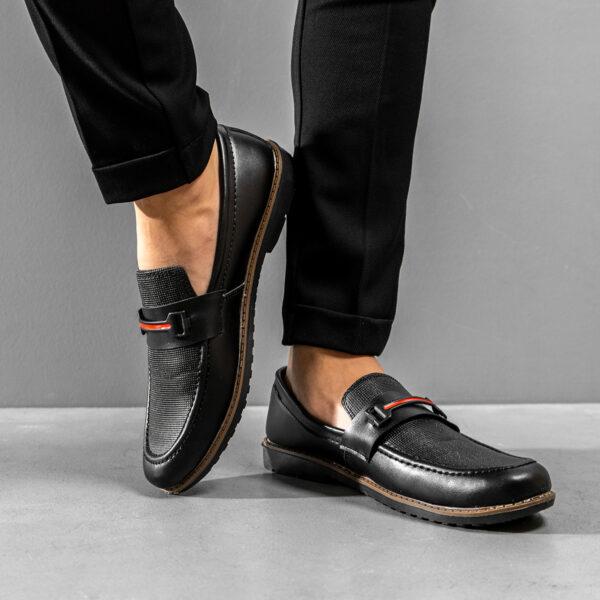 کفش کالج مردانه مشکی مدل Rasa5