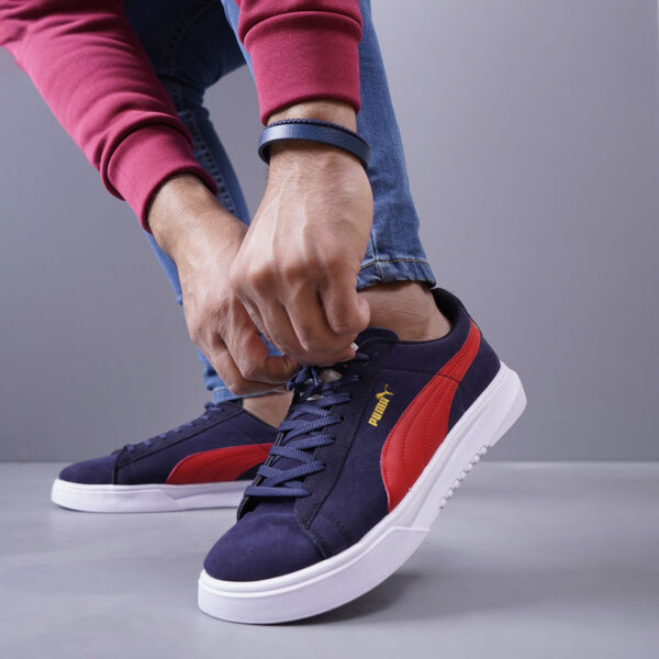 کفش مردانه puma مدل Panju رنگ سرمه ای و قرمز4