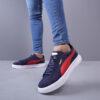کفش مردانه puma مدل Panju رنگ سرمه ای و قرمز5