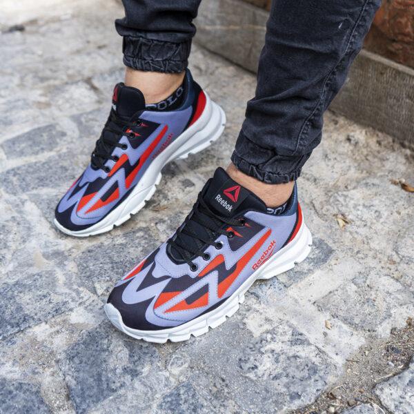 کفش ورزشی ریبوک طوسی قرمز مردانه مدل Ervan3