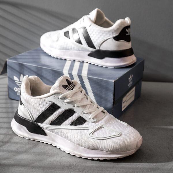 کفش ورزشی Adidas مردانه سفید مشکی مدل Siban5