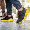 کفش ورزشی Adidas مردانه مشکی زرد مدلMahan 5
