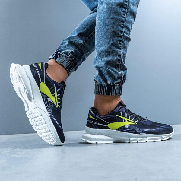 کفش ورزشی Brooks مردانه مشکی سبز مدل Folen 6