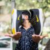 کفش ورزشی Nike مردانه مشکی زرد مدل Roham3
