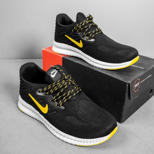 کفش ورزشی Nike مردانه مشکی زرد مدل Roham6