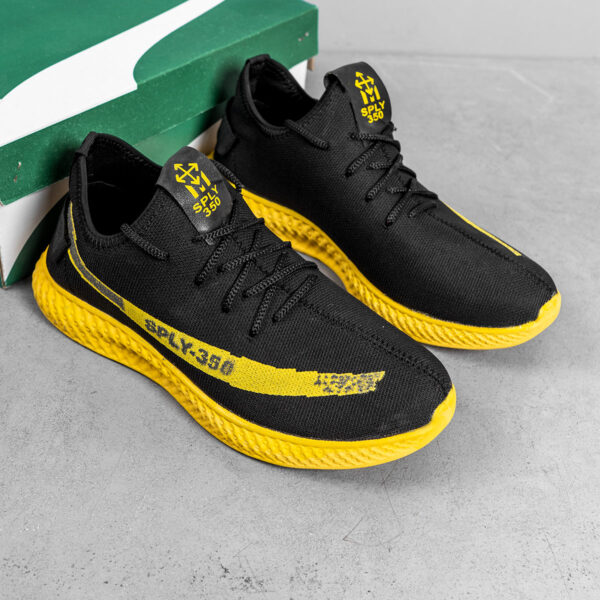 کفش ورزشی Sply 350 مردانه مشکی زرد مدلYogi5