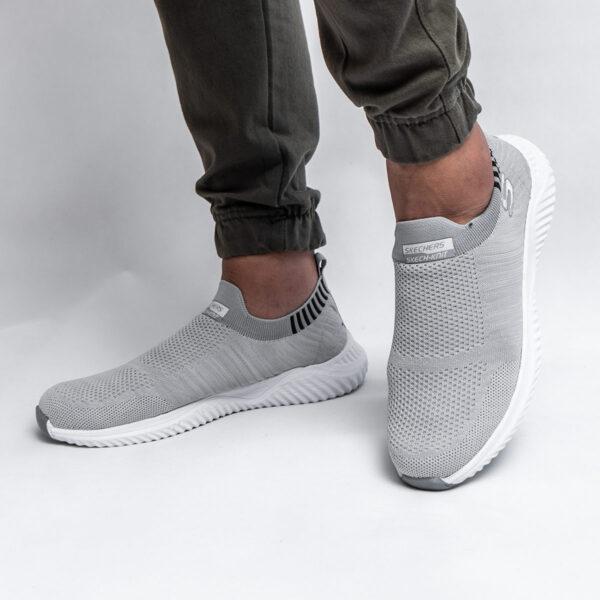 کفش ورزشیSKECHERS مردانه طوسی روشن مدل Balini 5